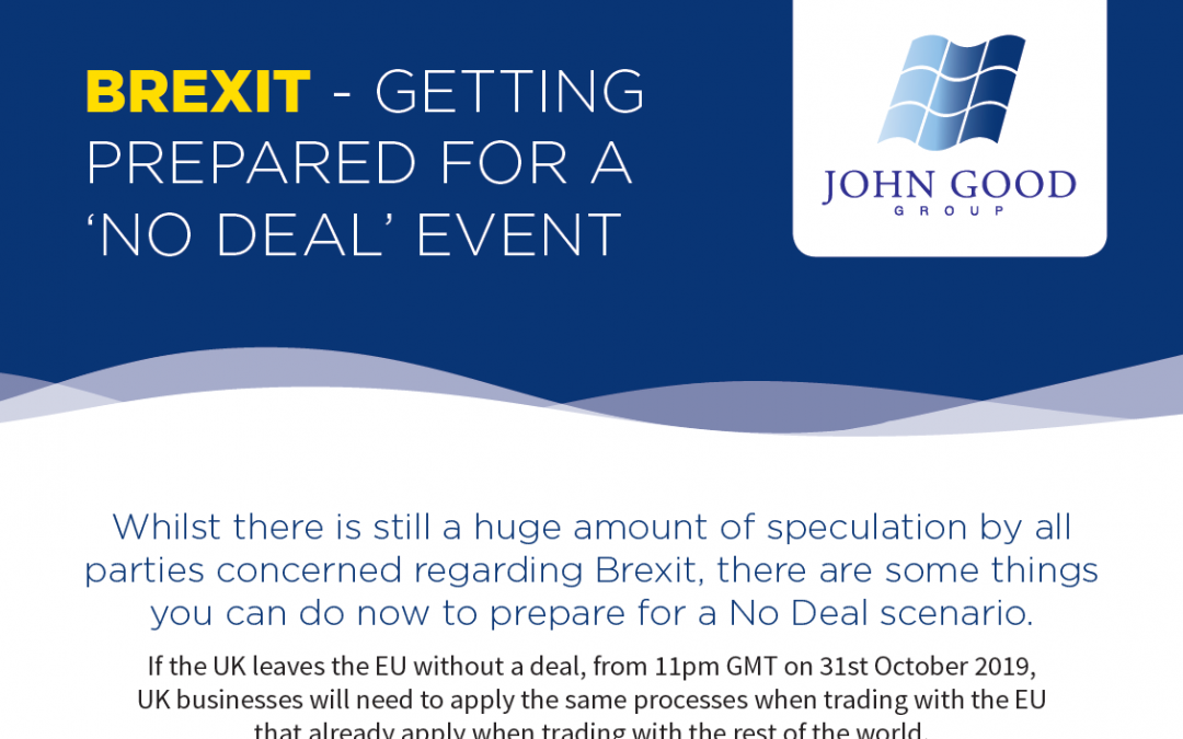 BREXIT – Getting Prepared For A 'NO DEAL' Event