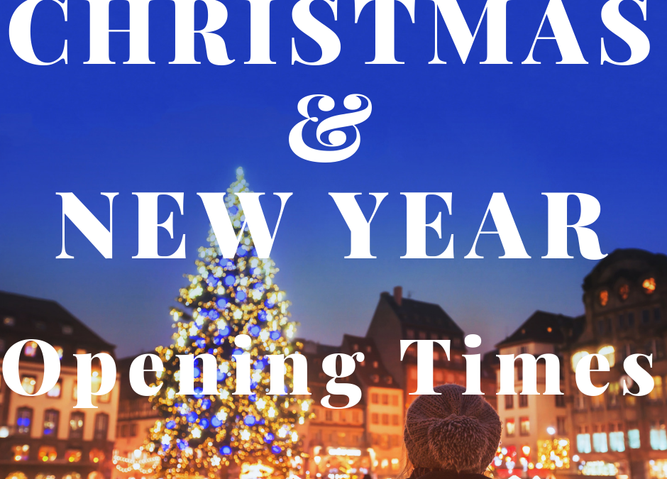 Office Opening Times during Christmas and New Year (2018-19)