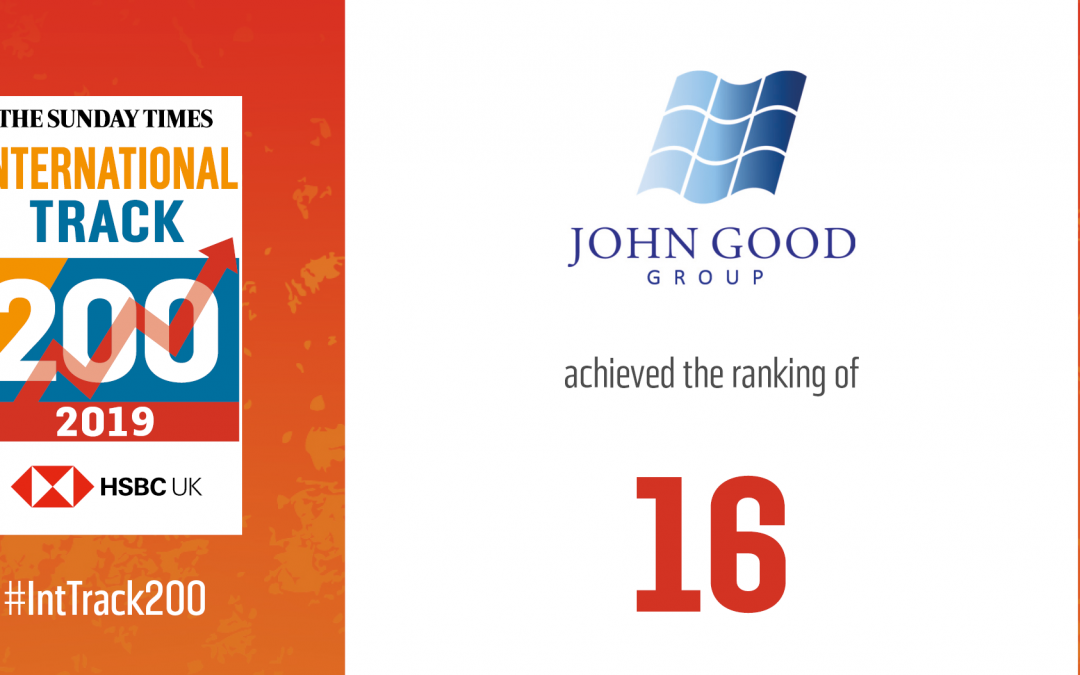 John Good Group Recognised Among Top British Companies for International Sales
